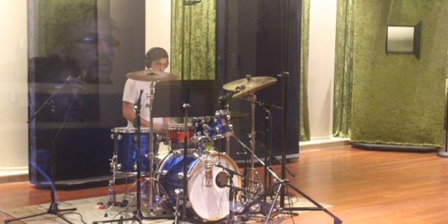 Steve tracking drums